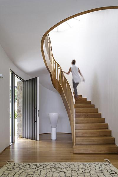 Martello Tower House - modern staircase