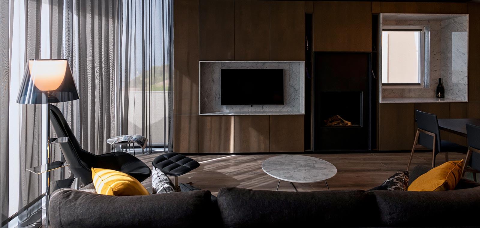 Modern living room design in a beautiful home located in Malta
