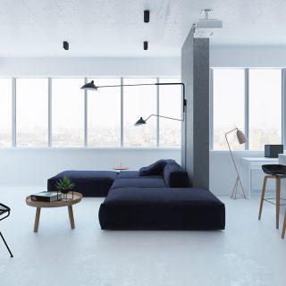 Minimalist apartment design idea in Kiev, Ukraine by Emil Dervish
