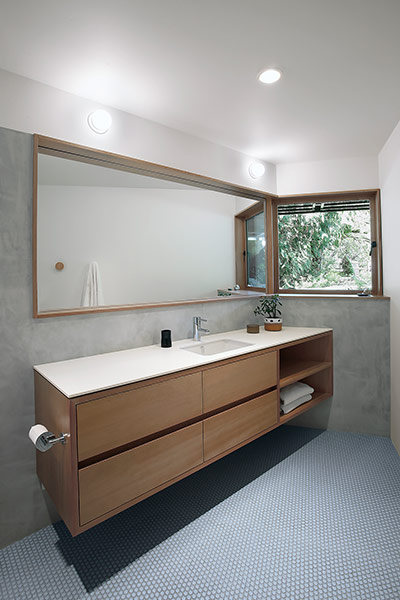 Modern bathroom furniture in remodeled Seattle, USA residence for a modern family lifestyle