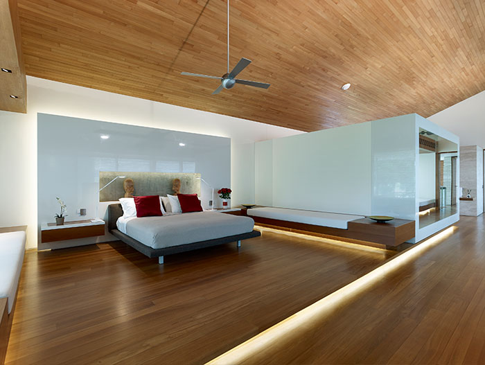 Contemporary bedroom - Zen Courtyard house in Singapore by Robert Greg Shand Architects