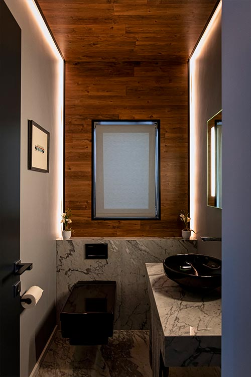 Modern black bathroom design ideadesign