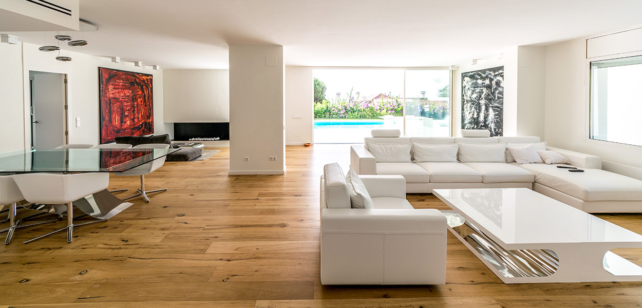 Modern interior design, open plan floor in newly renovated house near Barcelona by 08023 Architects