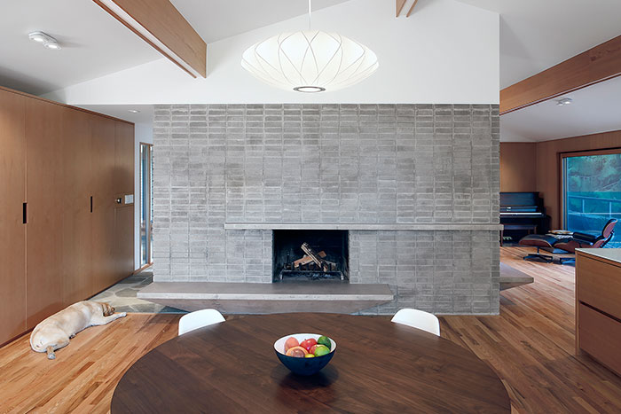Modern interior design in remodeled Seattle home
