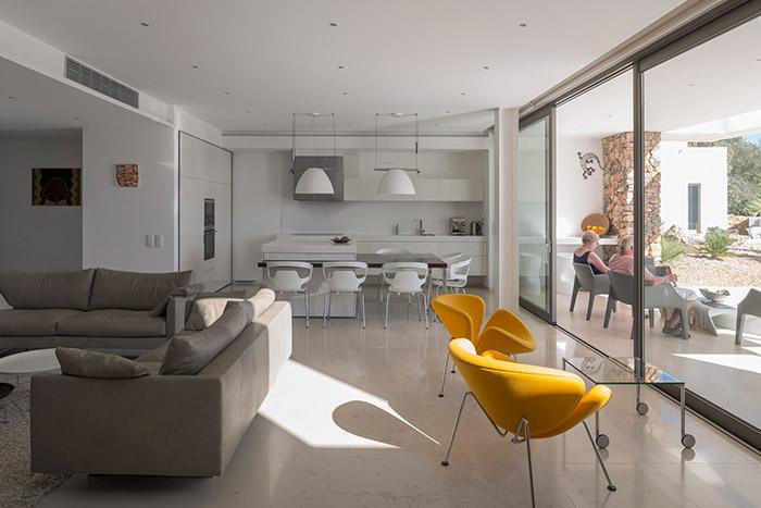 Modern kitchen in contemporary Portuguese villa