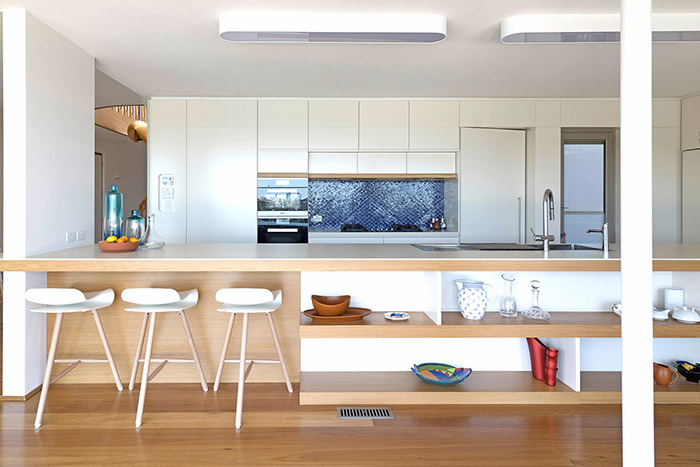Modern kitchen design idea - Martello Tower House by Luigi Rosselli Architects