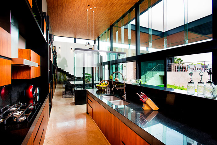 Modern small kitchen design in amazing house in Yucatan, Mexico by Seijo Peon Arquitectos y Asociados