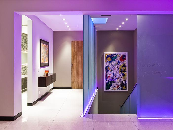 Modern staricase in Harold Way Residence in Hollywood, California
