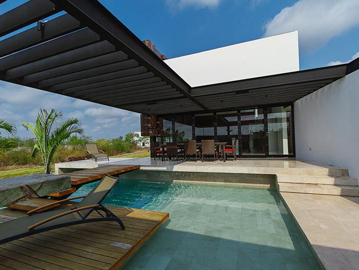 PL2 House Modern terrace in lakeside Mexico home by Seijo Peon Arquitectos y Asociados