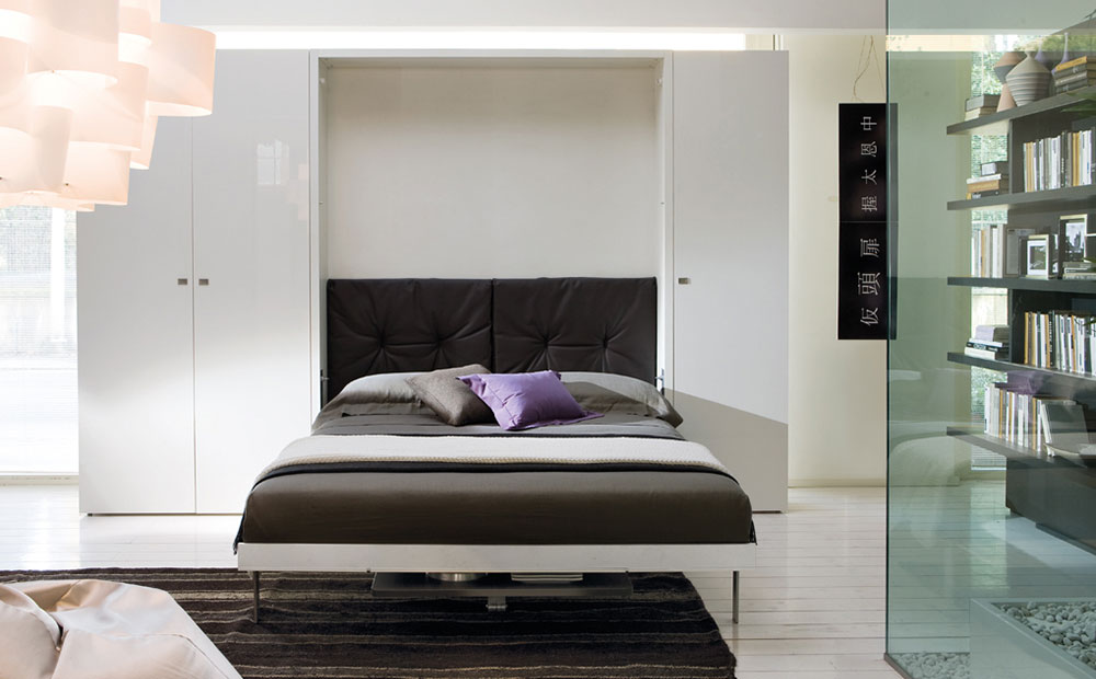 Modern wall bed space saving idea