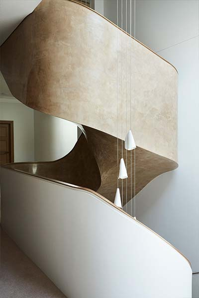 Peppertree Villa by Luigi Rosselli Architects located in Bellevue Hill, Sydney, Australia - modern staircase