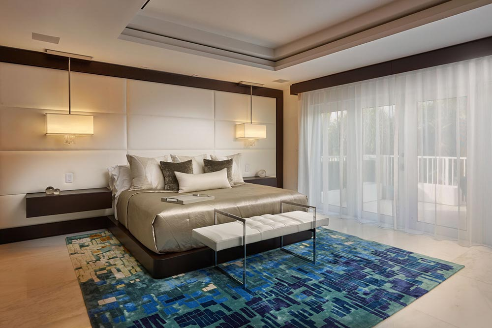 Add a rug to make your bedroom look more luxurious