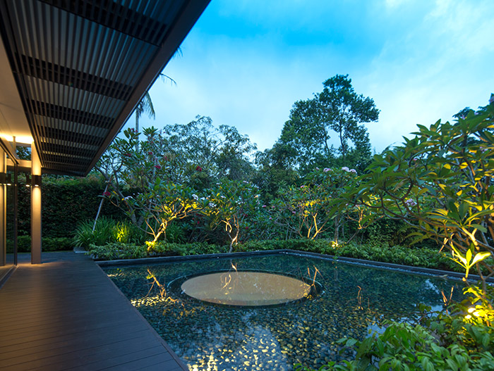 Contemporary architecture for luxurious, tropical home in Singapore - by Wallflower Architecture + Design