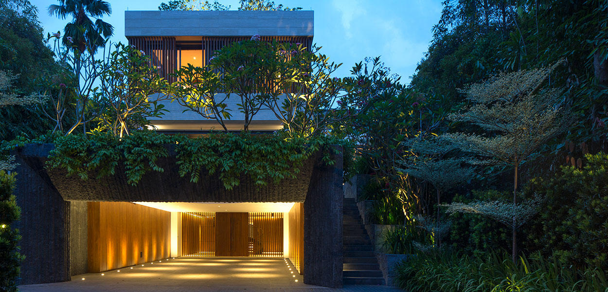 Secret Garden House: Luxurious, contemporary home in Singapore by Wallflower Architecture + Design for the owners of a construction company