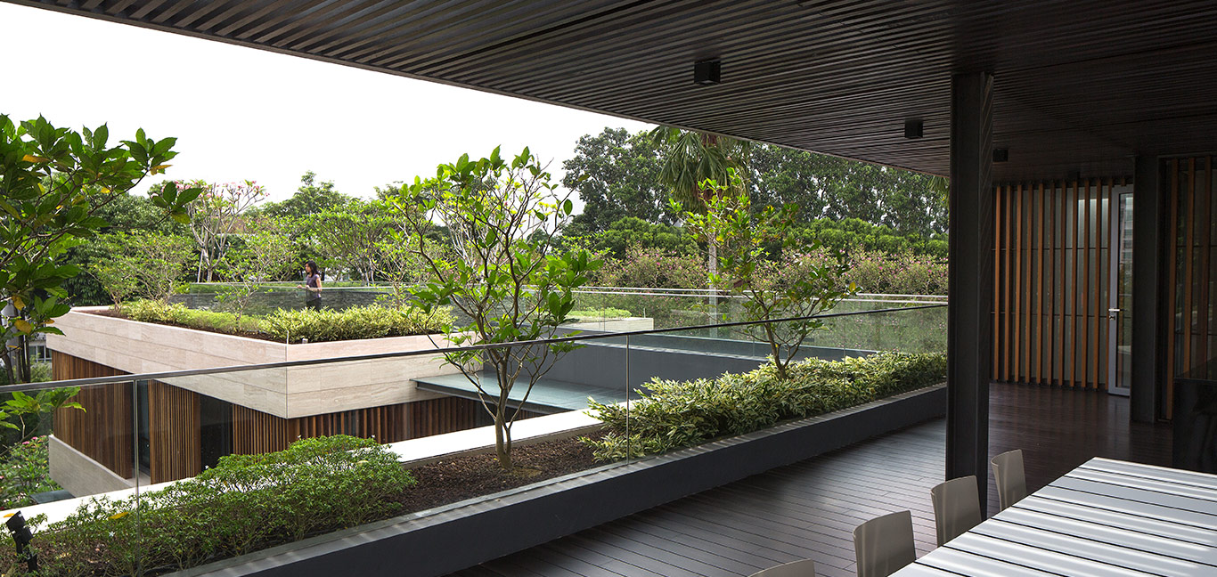 Secret Garden House: Tropical, contemporary home in Singapore by Wallflower Architecture + Design for the owners of a construction company