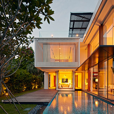 Sentosa Cove sophisticated home in Singapore by Robert Greg Shand Architects
