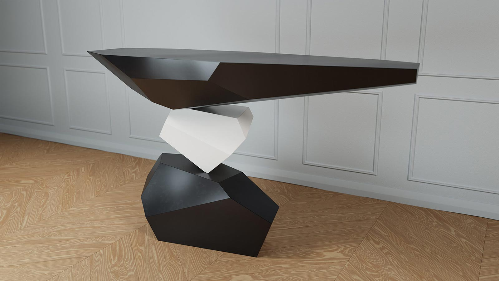 Duffy London's Serenity console table appears to defy gravity