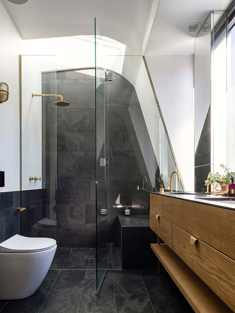 Replace the tub with a shower to make your bathroom look larger