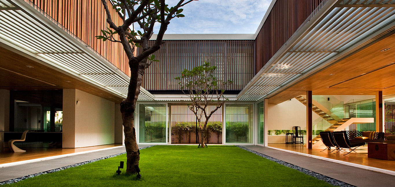This spacious contemporary house in Singapore is open without compromising security and privacy - by Wallflower Architecture + Design