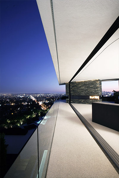Spectacular Hollywood Hills mansion with stunning views of Los Angeles, California
