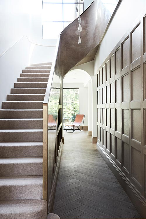 Peppertree Villa located in Bellevue Hill, Sydney, Australia - staircase designed by Luigi Rosselli Architects