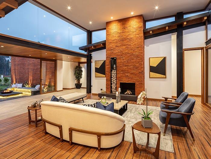 House AO by Studio Alfa in Ecuador - living room design