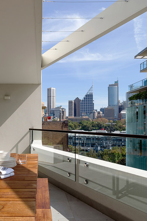 Stunning dwelling composed of two apartments with magnificent views: Duplex & the City by Luigi Rosselli Architects