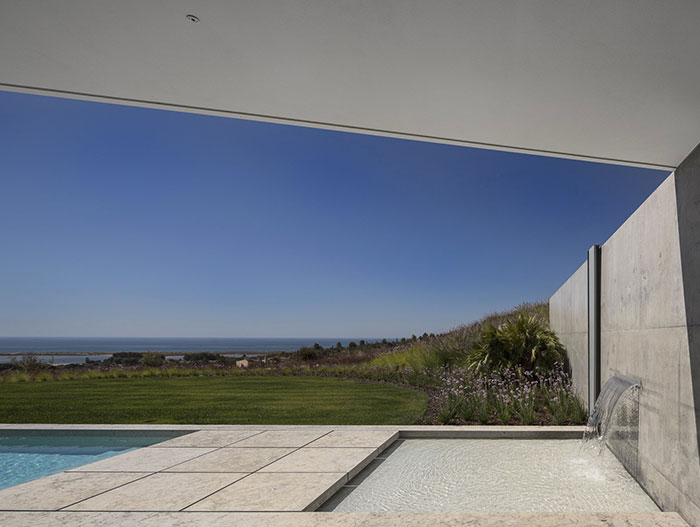 Stunning pool in modern house in Algarve, Portugal