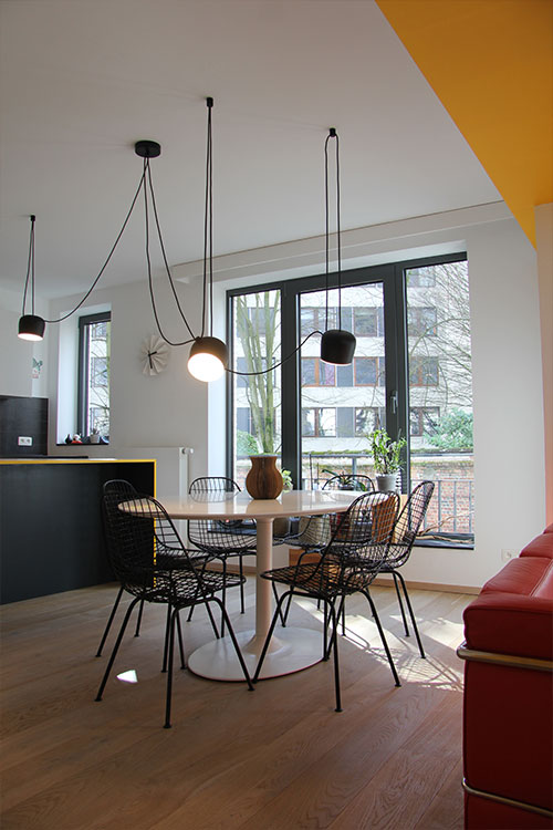 Stylish apartment located in Belgium designed by AIMJ