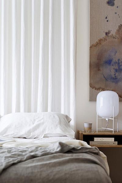 Stylish modern bedroom design - contemporary Martello Tower House