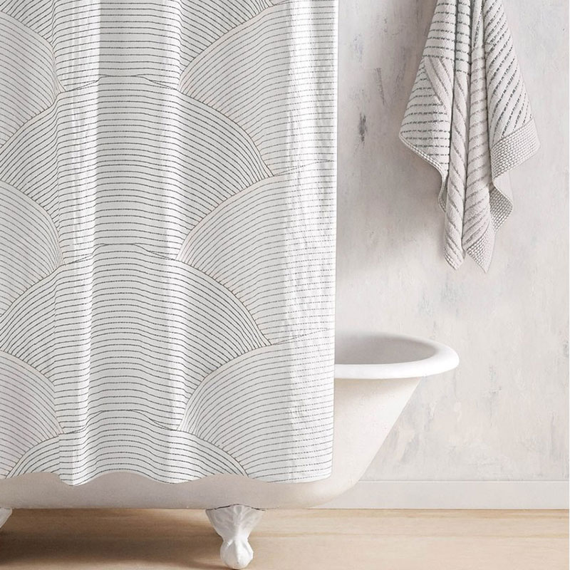 Shopping guide: grey stylish shower curtain inspired by Japanese rock garden - Sazid Shower Curtain Nordstrom