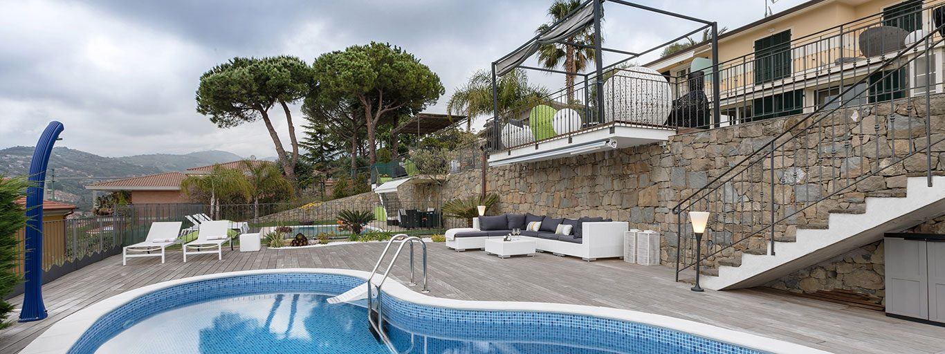 This stylish villa by NG-Studio embodies the comfortable life on the Italian Riviera