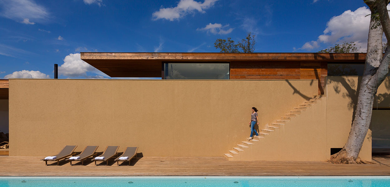 Gorgeous pool in sustainable house near Sao Paolo, Brazil by Studio Arthur Casas
