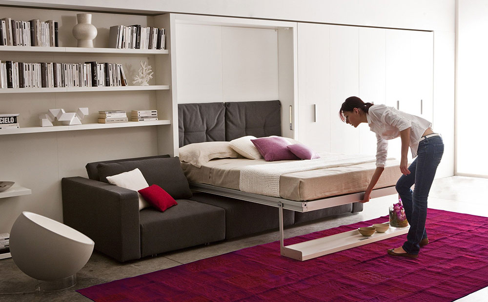 Swing murphy bed system by clei