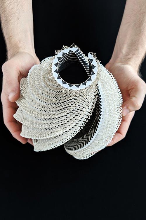 Symbio Vessels: Laser-cut paper sculptures by Ibbini Studio