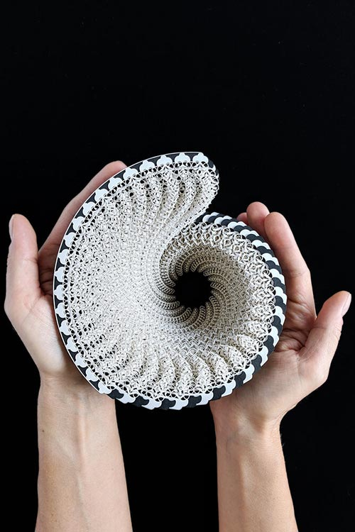 Ibbini Studio creates laser-cut paper vessels