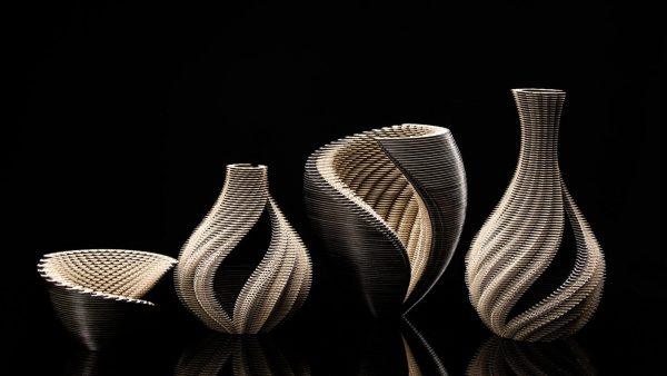 Symbio Vessels: Stunning laser-cut paper sculptures by Ibbini Studio