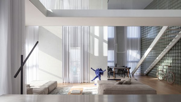 A bright duplex apartment in Israel by Tal Goldsmith Fish