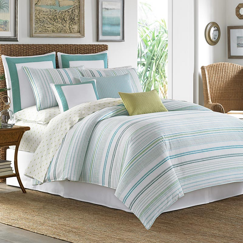 Tommy Bahama La Scala Breezer Seaglass bedding set