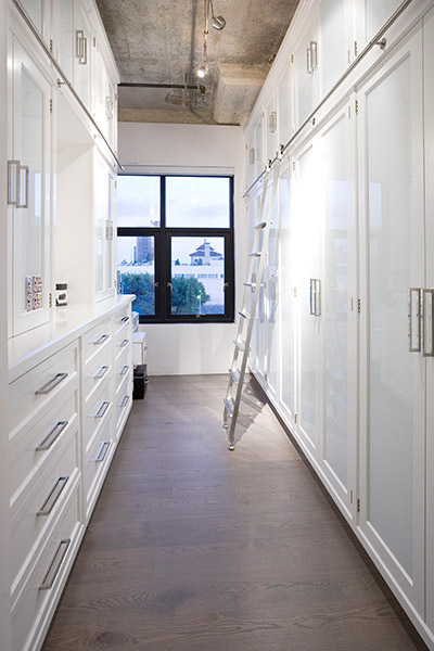 Lots of storage space in this Los Angeles loft