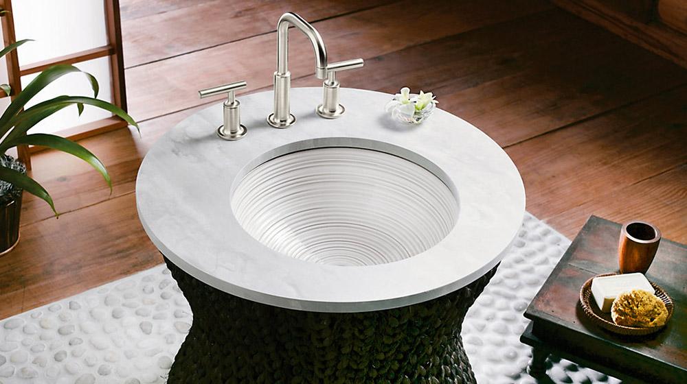 Twirl bathroom sink by Kohler