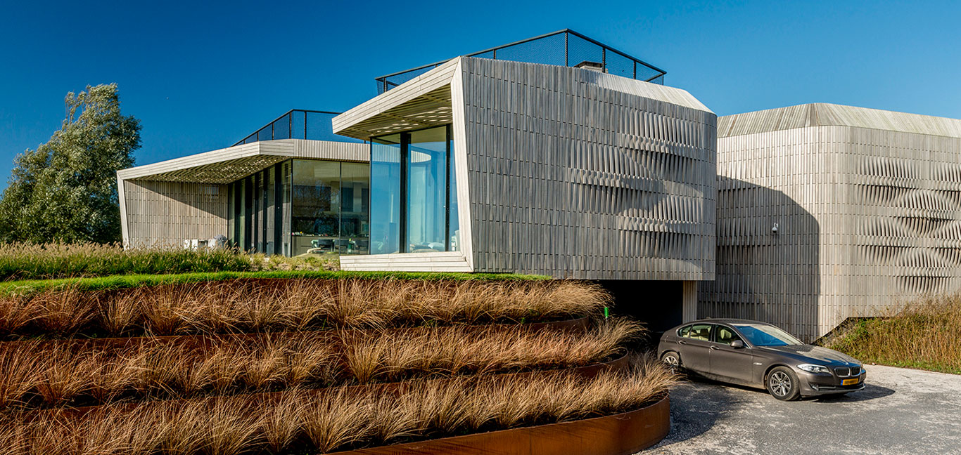 W.I.N.D House exterior by UNStudio - spectacular contemporary smart home in Noord-Holland, The Netherlands