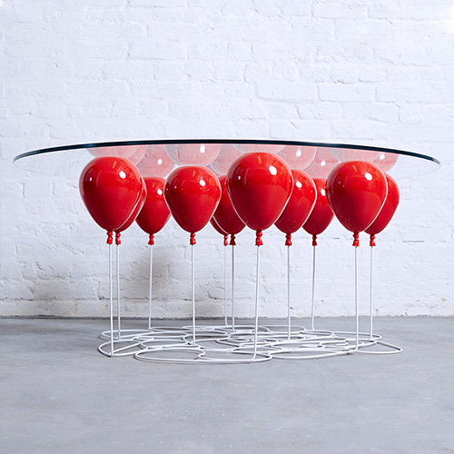 Up Balloon Table Red by Duffy London