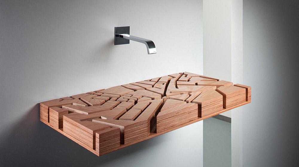 Water Map unique bathroom sink by Julia Kononenko