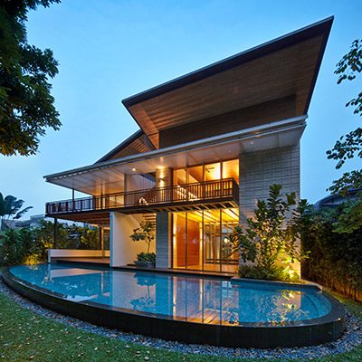 Zen Courtyard House - Contemporary Beach House in Sentosa Cove, SIngapore by Robert Greg Shand Architects