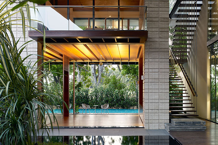 Zen Courtyard House by Robert Greg Shand Architects - contemporary beach house in Singapore